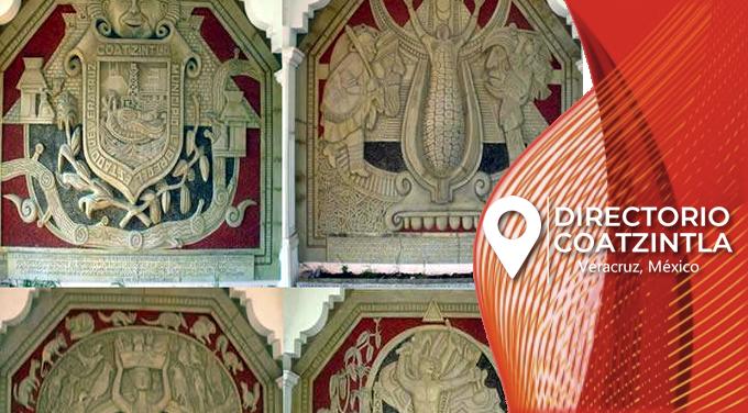 murales alto relieve de Teodoro Cano en Coatzintla